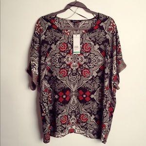 🎉 Relativity boho blouse NWT L